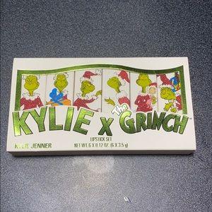 Kylie cosmetics grinch lipstick set 6 brand new